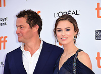 Dominic West and Keira Knightley at the 'Colette' premiere during 2018 Toronto International Film Festival at Princess of Wales Theatre on September 11, 2018 in Toronto, Canada.<br /> CAP/KNM<br /> &copy;IkonMediia/Capital Pictures