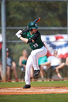 Dartmouth Big Green left fielder Matt Feinstein (23) at bat during a game against the Eastern Michigan Eagles on February 25, 2017 at North Charlotte Regional Park in Port Charlotte, Florida.  Dartmouth defeated Eastern Michigan 8-4.  (Mike Janes/Four Seam Images)