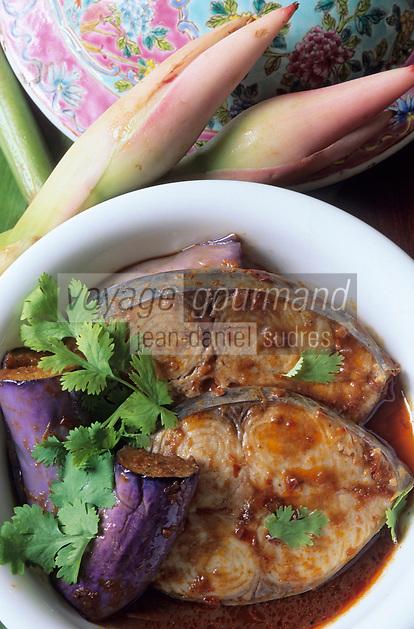 """Asie/Singapour/Singapour: Restaurant """"Alkaff Mansion"""" - Recette de poisson """"Kan Massak Assan Gulai"""""""