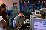 Workers at the forex room of the BenLe'umi Bank in Tel Aviv, Israel.<br />