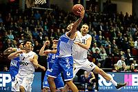GRONINGEN - Basketbal, Donar - Landstede Zwolle , Martiniplaza,  halve finale beker, seizoen 2017-2018, 13-02-2018,  Donar speler Drago Pasalic in duel met Landstede speler Franko House
