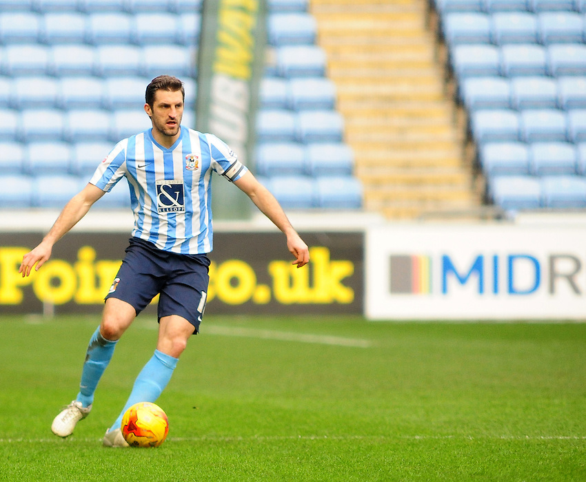 Coventry City's Sam Ricketts<br /> <br /> Photographer Andrew Vaughan/CameraSport<br /> <br /> Football - The Football League Sky Bet League One - Coventry City v Fleetwood Town - Saturday 27th February 2016 - Ricoh Stadium - Coventry   <br /> <br /> &copy; CameraSport - 43 Linden Ave. Countesthorpe. Leicester. England. LE8 5PG - Tel: +44 (0) 116 277 4147 - admin@camerasport.com - www.camerasport.com