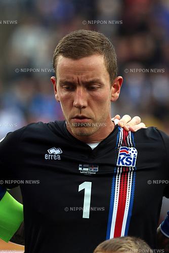 2.9.2017, Ratina Stadion, Tampere, Finland.<br /> FIFA World Cup 2018 Qualifying match, Finland v Iceland.<br /> Hannes Halldsson - Iceland
