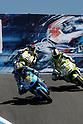 July 25, 2010 - Laguna Seca, USA - Rizla Suzuki MotoGP Team's Italian rider, Loris Capirossi, takes a curve during the U.S. MotoGP held on July 25, 2010. (Photo Andrew Northcott/Nippon News)