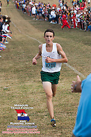 Evan Schulte wins the 2013 Parkway West Cross Country Invitational in 15:46, helping the Rock Bridge Bruins to a runner-up finish.