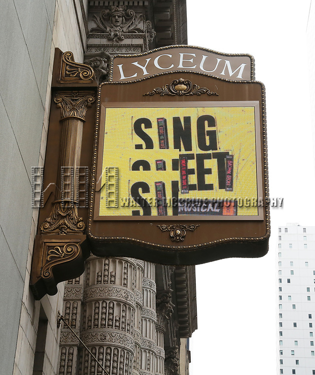 """Theatre Marquee unveiling for  """"Sing Street"""" at the Lyceum Theatre on February 4, 2020 in New York City."""