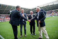 Wednesday 4th  December 2013 Pictured: Swansea City Legends<br /> Re: Barclays Premier League Swansea City v Southampton  at the Liberty Stadium, Swansea, Wales,UK
