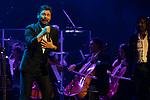 (LtoR) Singer Miguel Poveda and Antonio Carmona during concert of Festival Unicos. September 25, 2019. (ALTERPHOTOS/Johana Hernandez)