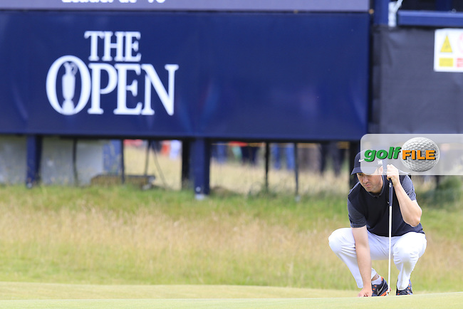 Ross FISHER (ENG) on the 15th green during Sunday's Round  of the 144th Open Championship, St Andrews Old Course, St Andrews, Fife, Scotland. 19/07/2015.<br /> Picture Eoin Clarke, www.golffile.ie