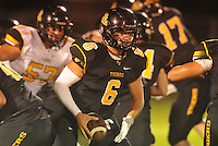 NWA Democrat-Gazette/MICHAEL WOODS &bull; @NWAMICHAELW<br /> Prairie Grove quarterback Sam Dodd (6) Thursday August 20, 2015 during the team scrimmage in Prairie Grove.