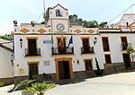 Town hall Ayuntamiento, Plaza de la Constitucion,  Montejaque, Serrania de Ronda, Malaga province, Spain