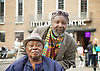 Teddy Osei <br /> at the Crouch End Festival screening of the documentary film about Mac Tontoh - One Last Song. <br /> 11th June 2017 <br /> <br /> Lord Eric Sugumugu (Drummer) <br /> with <br /> Teddy Osei (born December 1937) is a musician and saxophone player from Ghana. Osei is best known as the leader of the Afro-pop band Osibisa, founded in 1969. Born in Kumasi.<br /> <br /> <br /> <br /> Photograph by Elliott Franks <br /> Image licensed to Elliott Franks Photography Services