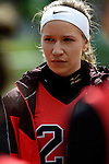 GER - Hannover, Germany, May 30: During the Women Lacrosse Playoffs 2015 match between DHC Hannover (black) and SC Frankfurt 1880 (red) on May 30, 2015 at Deutscher Hockey-Club Hannover e.V. in Hannover, Germany. Final score 23:3. (Photo by Dirk Markgraf / www.265-images.com) *** Local caption *** Clara Pustoslemsek #24 of SC 1880 Frankfurt