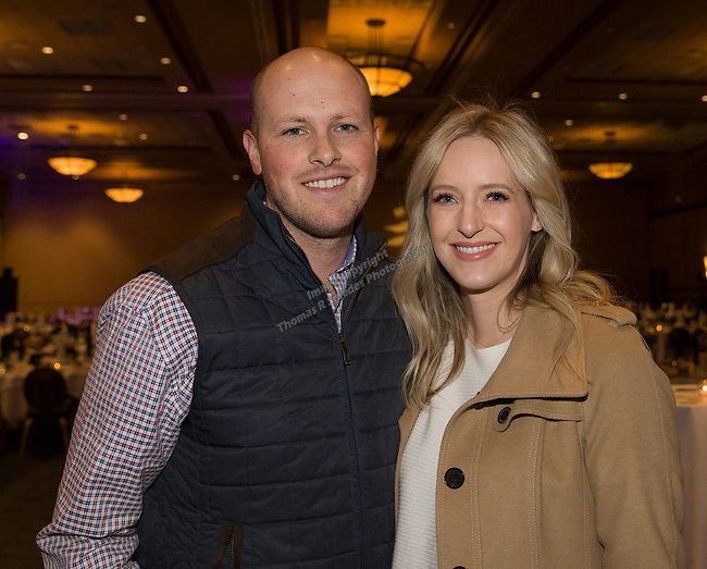 Chase and Sarah Whittemore during the 35th Annual Bobby Dolan Baseball Dinner in the Reno Ballroom on Thursday, January 17, 2019.