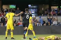 San Jose, CA - Saturday August 05, 2017: Chris Wondolowski during a Major League Soccer (MLS) match between the San Jose Earthquakes and the Columbus Crew at Avaya Stadium.