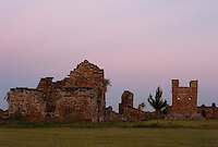 The ruins of the Jesuit Reduccion of Trinidad, Paraguay, stand in the evening light. Scores of Jesuit missions in the area where Paraguay, Argentina and Brazil meet were built in the 17th century and abandoned when the Jesuits were expelled in the 18th century. Ruins of some of these missions still haunt hilltops in the region. (Kevin Moloney for the New York Times)