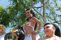 Scantily Clad Female, Smiling at Me,   LA Pride 2010 West Hollywood, CA Parade