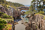 Ravens Roost, the rugged cliffs of Acadia on Schoodic Peninsula, Acadia National Park, Downeast ME