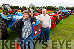Dinny Ryle and James Collins from Ardfert pictured at Abbeydorney Vintage on Sunday.
