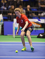 Rotterdam, Netherlands, December 20, 2015,  Topsport Centrum, Lotto NK Tennis, Ballgirl<br /> Photo: Tennisimages/Henk Koster
