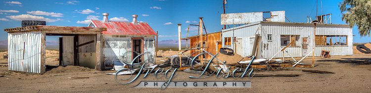 Abandoned buildings on Route 66 in the town of Essex California.