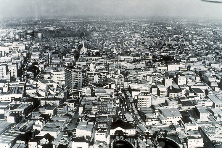 UNDATED..Redevelopment.Downtown South (R-9)..AERIAL VIEW...NEG#.NRHA#..