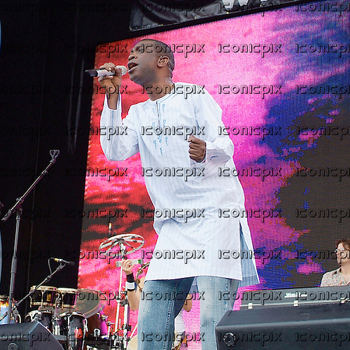 Youssou n'Dour - <br /> performing live at the Live 8 'Make Poverty History' concert in Hyde Park <br /> London, England UK - 02 Jul 2005.  Photo credit: George Chin/IconicPix