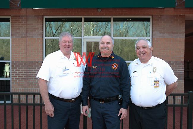 Lease signing for Mifflin Township Fire Department's new Mech Center.