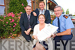 DRUGS AWARENESS: A drugs awareness night is being organised by Kerry Life Education and SAM Youth Group at the Carlton Hotel, Tralee on September 30th at 8pm. From l-r were: Michael McMahon (Town Manager), Mayor of Tralee AJ Spring, Superintendent Jim O'Connor and Cllr. Grace O'Donnell.