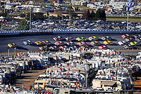 Nov. 1, 2009; Talladega, AL, USA; NASCAR Sprint Cup Series driver Jamie McMurray leads the field during the Amp Energy 500 at the Talladega Superspeedway. Mandatory Credit: Mark J. Rebilas-
