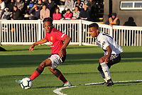 DJ Duffonge of Manchester United U23's in possession during Fulham Under-23 vs Manchester United Under-23, Premier League 2 Football at Motspur Park on 10th August 2018