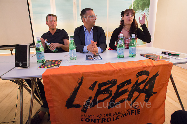 (From L to R) Johnny Miller, Gaspare Giacalone &amp; Anna Sergi.<br /> <br /> London, 19/06/2015. Today, Libera, the Italian organization against the mafias, held its first London&rsquo;s branch event called: &quot;Mafia(s) &amp; Antimafia from within&quot; with the screening of the documentary &quot;The Changing Face Of The Mafia&quot; (On Youtube at: http://bit.ly/1L8aJ3t). Chairs of the event were: Anna Sergi (Lecturer in Policing and Crime Science - University of West London), Johnny Miller (Journalist Press TV and Author of the documentary) and Gaspare Giacalone (Mayor of Petrosino - Sicily). From Libera's website: &lt;&lt;&quot;Libera. Associations, names and numbers against mafias&quot; was born on 25 March 1995 with the purpose of involving and supporting all those who are interested in the fight against mafias and organized crime. Libera is presently a network of more than 1,200 associations, groups and schools, committed to build(ing) up organizational synergies between the political and cultural local realities capable of promoting a culture of lawfulness. The law on the social use of the real estate confiscated from organized crime, the education on democratic lawfulness, the fight against corruption, the camps for antimafia education, the projects on work, development and anti-usury activities, are some of Libera's concrete commitments [&hellip;]&gt;&gt; (For more information please click here: http://bit.ly/1Goqwou).<br />  <br /> For more information please click here: http://on.fb.me/1QHqNOn &amp; http://on.fb.me/1Sxn43y