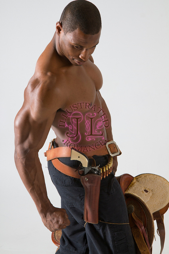 Western black cowboy romance novel cover photograph by Jenn LeBlanc and Studio Smexy