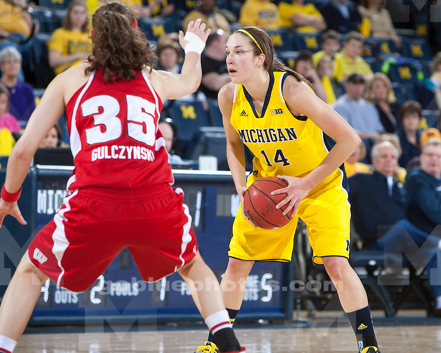 The University of Michigan women's basketball team beat Wisconsin, 54-43, at Crisler Arena in Ann Arbor, Mich., on January 13, 2013.