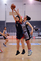 Charlisse Leger-Walker competes for the ball during the 2018 Schick AA Girls' Secondary Schools Basketball Premiership National Championship final between Hutt Valley High School and St Peter's School Cambridge at the B&M Centre in Palmerston North, New Zealand on Saturday, 6 October 2018. Photo: Dave Lintott / lintottphoto.co.nz