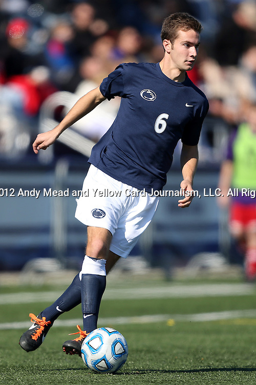21 October 2012: Penn State's Kyle MacDonald. The Northwestern University Wildcats played the Penn State University Nittany Lions at Lakeside Field in Evanston, Illinois in a 2012 NCAA Division I Men's Soccer game. Penn State won the game 1-0 in golden goal overtime.