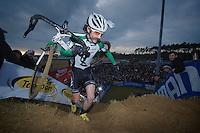 Alexander 'Moustache' Revell (NZL)<br /> <br /> UCI Worldcup Heusden-Zolder Limburg 2013