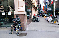 New York City, New York, Coronavirus in New York. The homeless have little recourse and more are in the streets