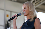 Kellyanne Conway speaks at the 4th annual Basque Fry in Gardnerville, Nev., on Saturday, Aug. 25, 2018. Hosted by the Morning in Nevada PAC, the event is a fundraiser for conservative candidates and issues and includes traditional Basque dishes like deep-fried lamb testicles.(Cathleen Allison/Las Vegas Review Journal)