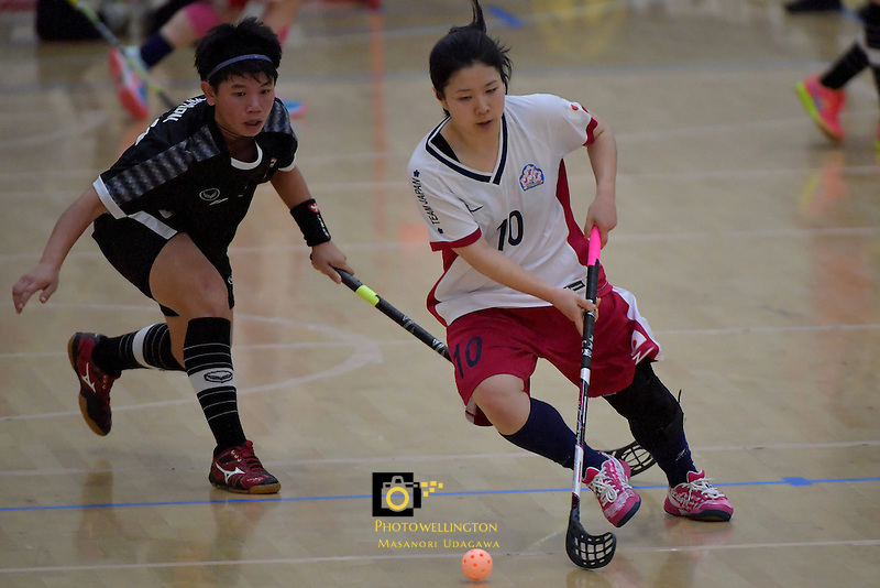 Japan's Yuki Takahashi in action during the World Floorball Championships 2017 Qualification for Asia Oceania Region - Japan v Thailand at ASB Sports Centre , Wellington, New Zealand on Saturday 4 February 2017.<br /> Photo by Masanori Udagawa<br /> www.photowellington.photoshelter.com.