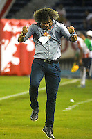 BARRANQUIILLA -COLOMBIA-12-10-2016. Alberto Gamero técnico de Deportes Tolima gesticula durante el encuentro de vuelta con Atlético Junior por la semifinal de la Copa Águila 2016 jugado en el estadio Metropolitano Roberto Meléndez de la ciudad de Barranquilla./ Alberto Gamero coach of Deportes Tolima gestures during the second leg match against Atletico Junior for the semifinals of the Aguila Cup 2016 played at Metropolitano Roberto Melendez stadium in Barranquilla city.  Photo: VizzorImage/Alfonso Cervantes/Cont
