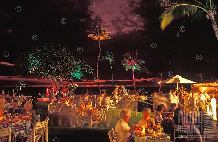 Dining at the Maunalani Hotel Food Festival, Big Island