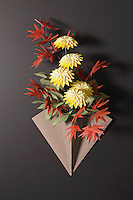 OrigamiUSA Convention 2015 Exhibition. Flowers folded by John Blackman.