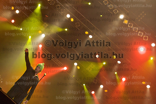 Musician Jamiorquai performing on the main stage during Sziget festival attracting more than 75 thousand people held in Budapest, Hungary. Thursday, 14. August 2008. ATTILA VOLGYI