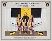 Counties Manukau  Rowing Club 2010/2011 Rosehill Under 15 Girls squad photo.