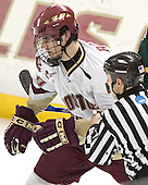 Brian Boyle - The Boston College Eagles completed a shutout sweep of the University of Vermont Catamounts on Saturday, January 21, 2006 by defeating Vermont 3-0 at Conte Forum in Chestnut Hill, MA.