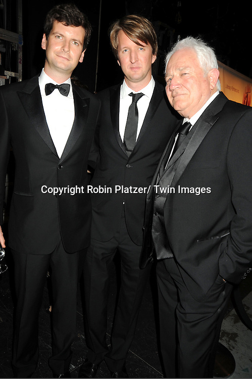 "Luke Parker-Bowles, Tom Hooper and David Seidler attending the Literacy Partners 27th Annual "" Evening of Readings"" on May 16, 2011 at The David Koch Theatre in Lincoln Center in New York City."