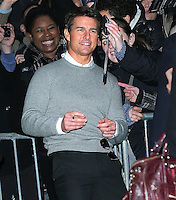 Tom Cruise arrives at The Late Show - New York