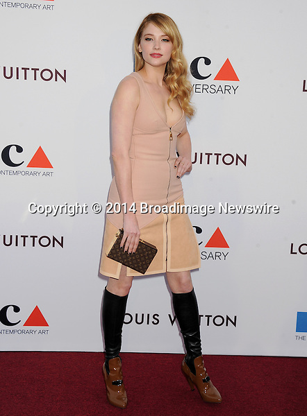 Pictured: Haley Bennett<br /> Mandatory Credit &copy; Gilbert Flores/Broadimage<br /> MOCA's 35th Anniversary Gala<br /> <br /> 3/29/14, Los Angeles, California, United States of America<br /> <br /> Broadimage Newswire<br /> Los Angeles 1+  (310) 301-1027<br /> New York      1+  (646) 827-9134<br /> sales@broadimage.com<br /> http://www.broadimage.com
