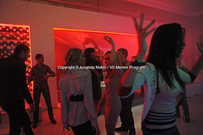 Clubgoers at Ice Club, an all white club, in Baku, Azerbaijan on November 11, 2011.